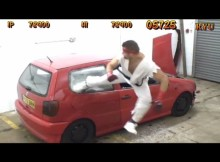 Watch Real Life Street Fighter Destroys A Car