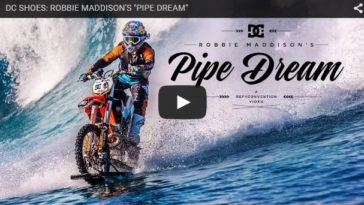 Watch This Dude Surfing A Wave On A Dirt Bike