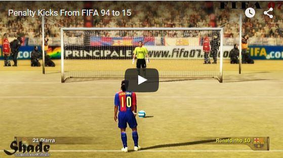 Penalty Kicks From FIFA 94 to 15